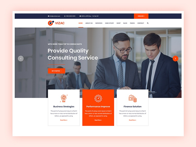 Vizac - Business Consulting Website finance investigation finance corporate agency corporate consulting agency consulting consultancy company business solution business agency business