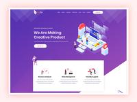 Bizto - Creative Agency Landing Page