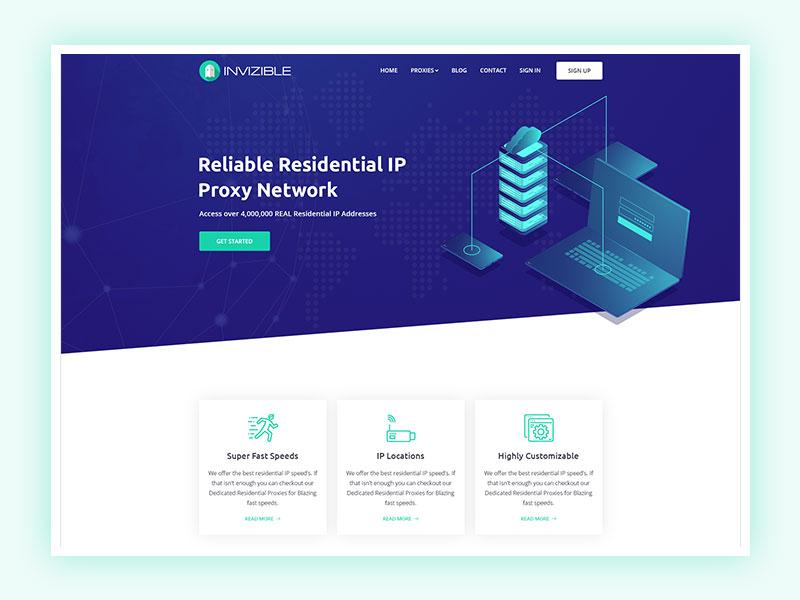 Invizible - Proxy/IP Provider Website Redesign redesigned proxywebsite design ipwebsite startup creative modern design ui business redesign concept network proxy ip redesign illustration
