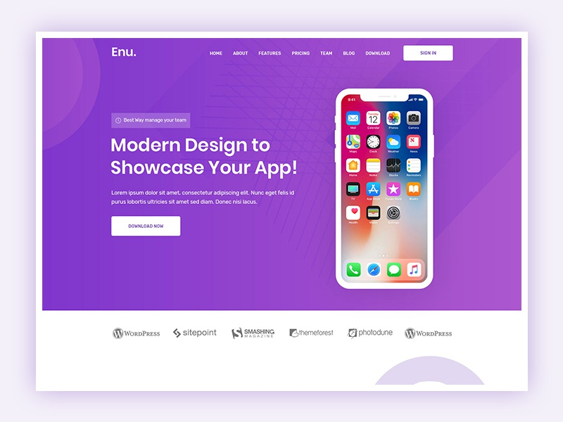 App Landing Page app landing page technology startup software seo saas product portfolio marketing landing page html5 creative business bootstrap app agency