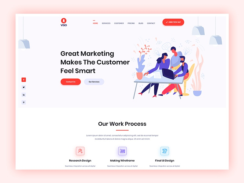 Creative Agency Landing Page portfolio multi-purpose modern landing page illustration digital agency creative corporate company clean business portfolio business bootstrap 4 agency