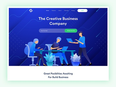 Creative Agency Website Exploration ux typography design modern saas startup clean vector ui business agency illustration landing page creative