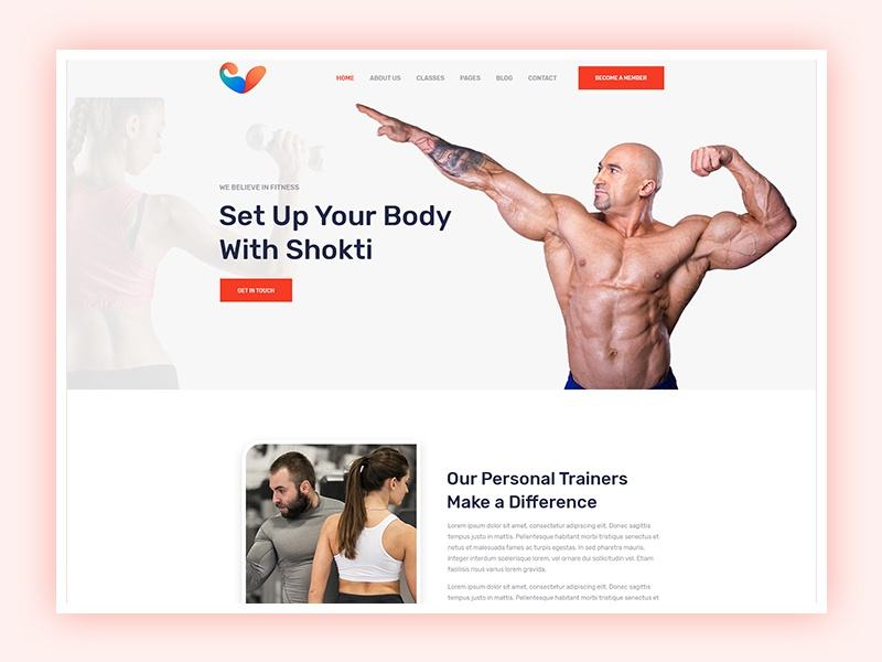 Fitness And Gym Website Design By Mostofa Kamal On Dribbble
