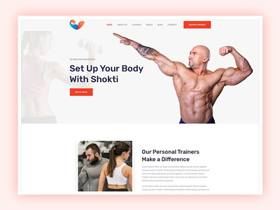 Fitness and Gym Website Design workout training sport club sport personal trainer modern health club gym fitness gym coach gym fitness center fitness classes
