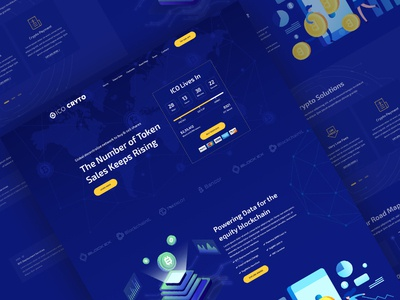 Crypto Currency Landing Page uiux ui vector crypto currency clean modern crypto bitcoin ico cryptocurrency landing page illustration creative