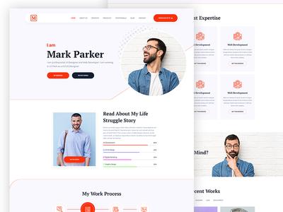 Personal Portfolio Website Design travel resume portfolio photography parallax one page modern minimal freelancer elementor developer designer creative clean blog