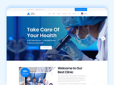 Timan - Dental & Clinic Website treatment practice patient medical gallery filterable dentistry dentist dental dent clinic before after appointment
