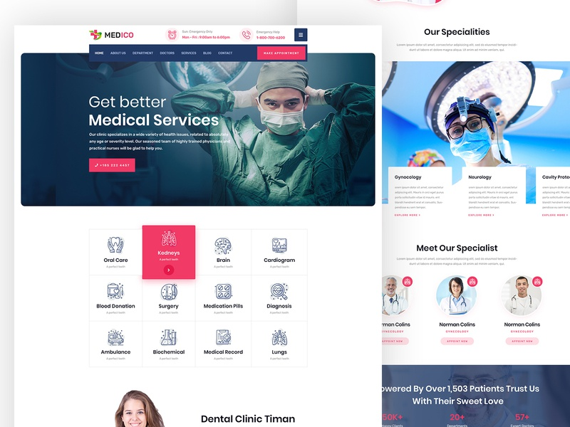 Medical Website wellness stomatology pharmacy patient medicine medical laboratory hospitality hospital health care health doctor dentist clinic appointment