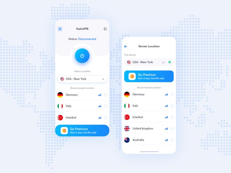 VPN App Design vpn app vpn setting notification mobile internet flag icon connecting connected connect configuration application app design app