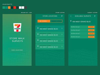 Store Walk Survey Application mobile app design 7eleven survey