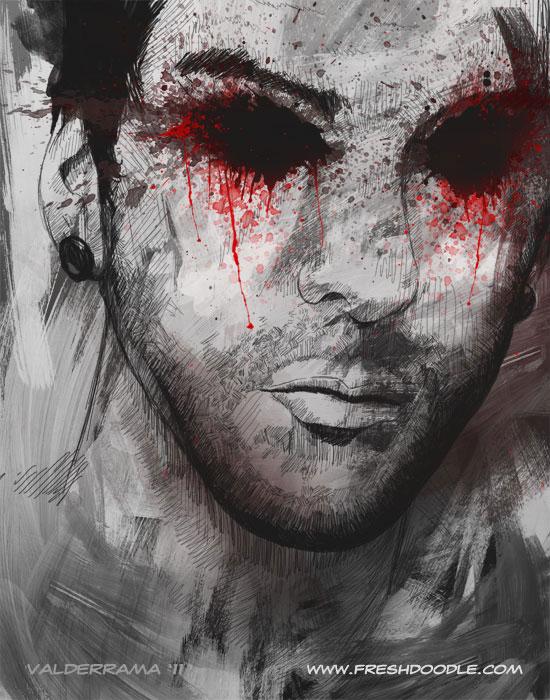 этого картинка парень с кровавой слезой одновременно удивленный всего