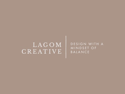 Lagom Creative - Design with a Mindset of Balance