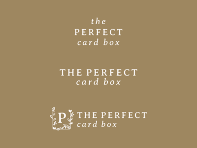 The Perfect Card Box Secondary Logos