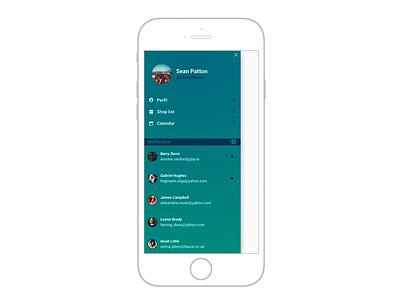 Mobile menu example notifications notification simple blue app menu mobile