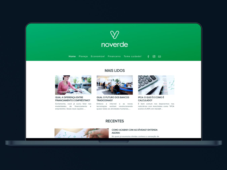 Noverde Blog sketch ui design clean blog graphic blog design blog green