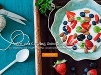 Online Food Ordering Landing page