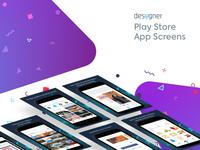 Desygner Play Store App Screens
