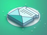 Isometric Mail Icon