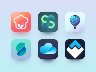 Daily Ui 005 - App Icon food cloud balloon logo gradient illustrator sketch design icon app