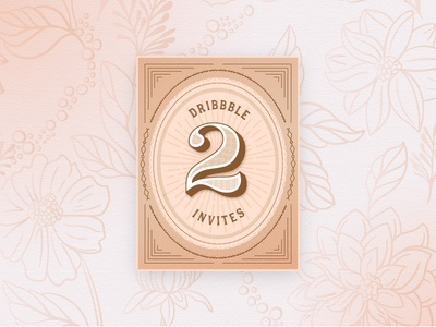 Dribbble Invites giveaway design retro card dribbble invite