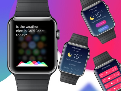 Weather iOS watch using inVsionStudio shremal interface app invision watch uidesign ios weather