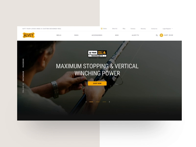 Ecommerce Fishing Site typography australia ux gradient uidesign design ui shremal responsive home website ecommence fishing fish