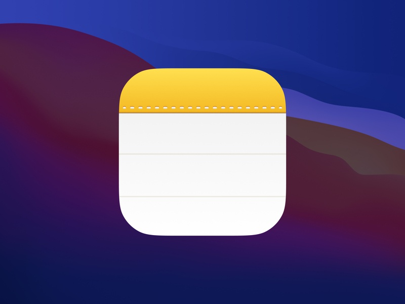 Notes macos replacement ios icon