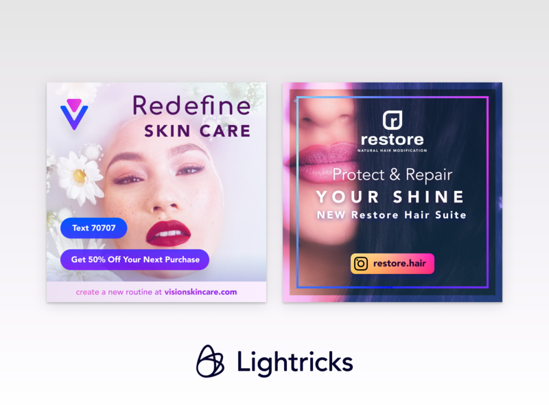 Advertisement Concept (Lightricks) advertising marketing ui ios