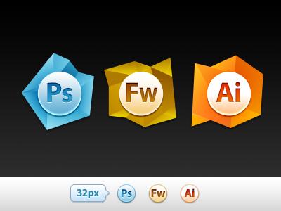 Adobe Set #1 adobe illustrator photoshop fireworks icon replacement fun