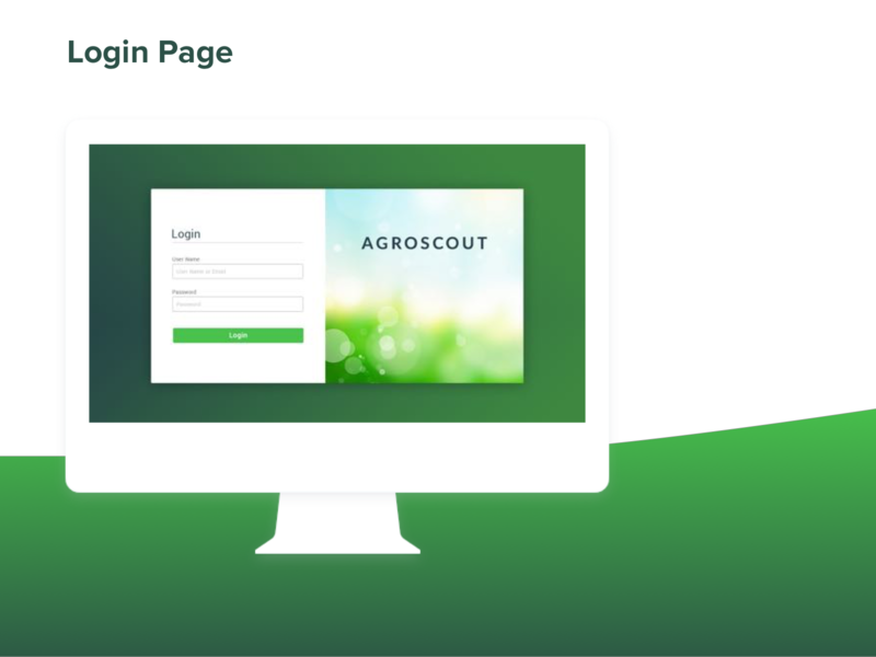 Agroscout Login Page design ui