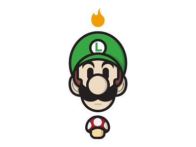Luigi illustrator character illustration super mario luigi videogames smash bros