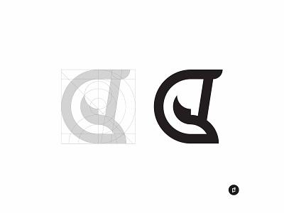 C Horse 2 animal illustration letter monogram animal mark logo illustrator