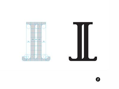 JL Monogram design marketing branding column realtor letters mark logo illustration illustrator