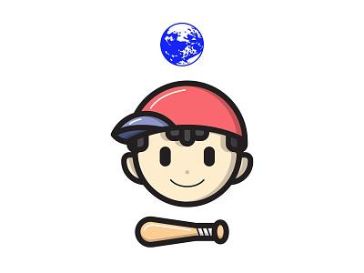 Ness sticker earthbound smash bros smash nintendo ness illustrator illustration