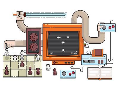 We Are Nerds hundred10 lines nerds video games illustrator illustration