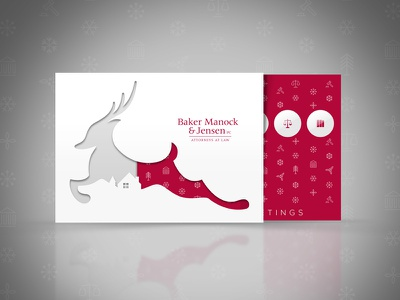 Holiday Card Concept concept hundred10 law card christmas reindeer holidays photoshop