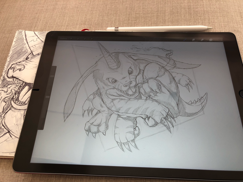 Gabumon Sketch illustration procreate ipad pro digimon