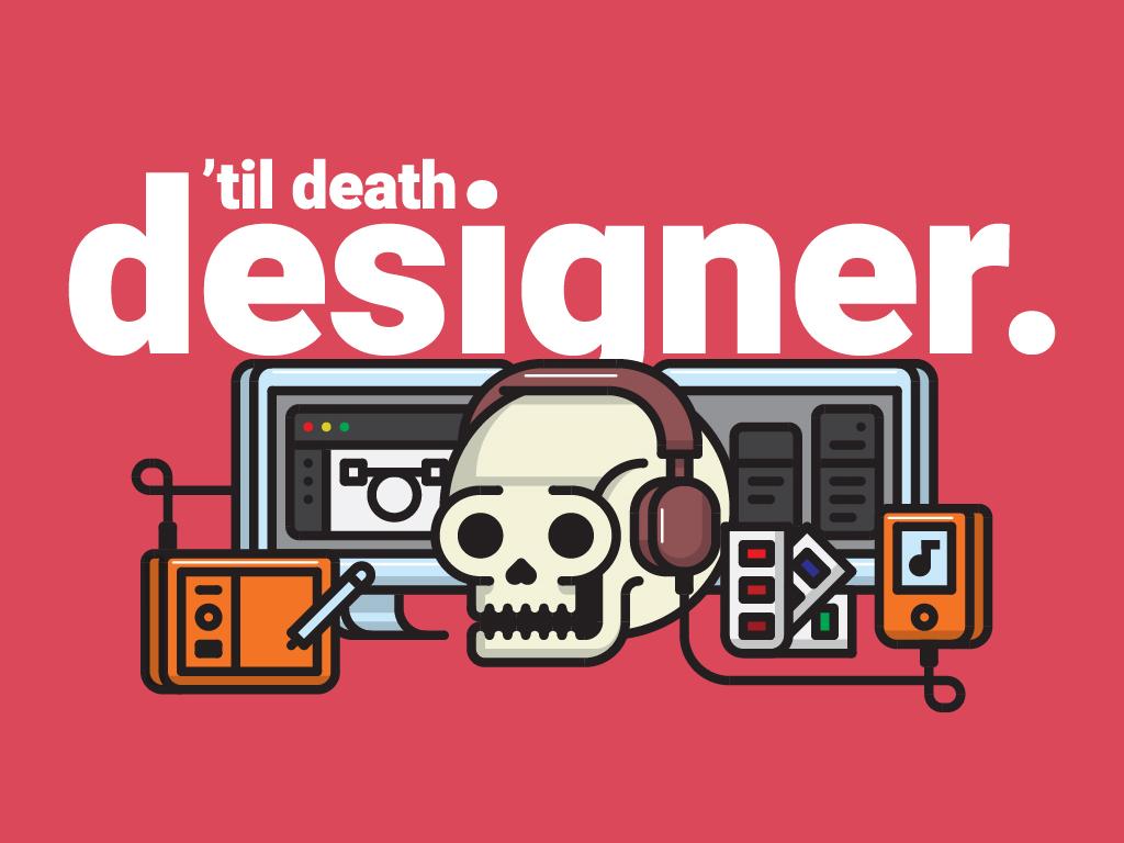 'Til Death. Designer. illustrator illustration skull designer career design tech design tech
