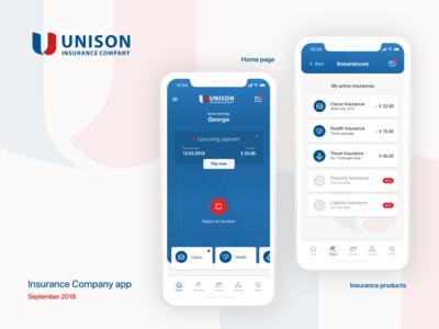 Unison Insurance Company mobile app