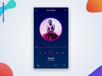 #DailyUi - 009 - Music Player