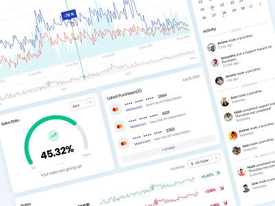 Dashboard UI Details details calendar activity sales chart graph listing payment line chart clean ui dashboard