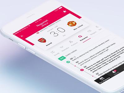 Scores App minimal white clean timeline football soccer mobile ios app scores