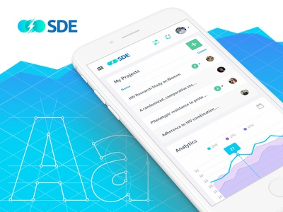 Scientific Data Engine (case study) creative animation web flat branding app design digital web app mobile ux ui app
