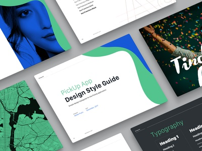 App Style Guide clean modern flat colors fonts typography style guide branding