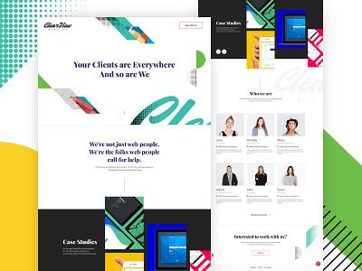 Creative Agency Landing Page website vibrant clean modern page landing homepage agency ui