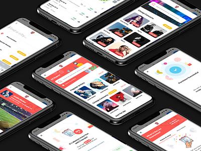 Lea - AI Facebook Messenger App music app illustration animation design mobile modern app clean ux ui