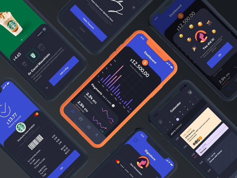 Power of contrast and details flat modern contrast dark mode ios mobile app clean ux ui