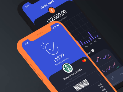 Animation Sneak Preview dashboard ui payment starbucks dashboard ios design mobile animation modern app clean ux ui