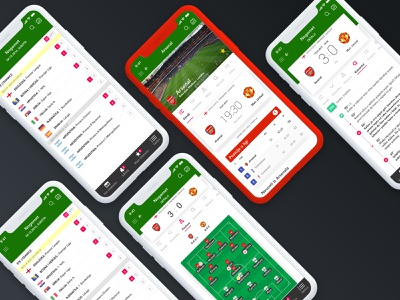 Results app redesign scores football club soccer design modern football ios mobile app clean ux ui