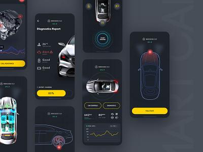 Smart Car Concept ios dashboard carui mercedes car smartcar modern app clean ux ui